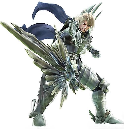 Siegfried Schtauffen (Soul Calibur) pointing a magical sword