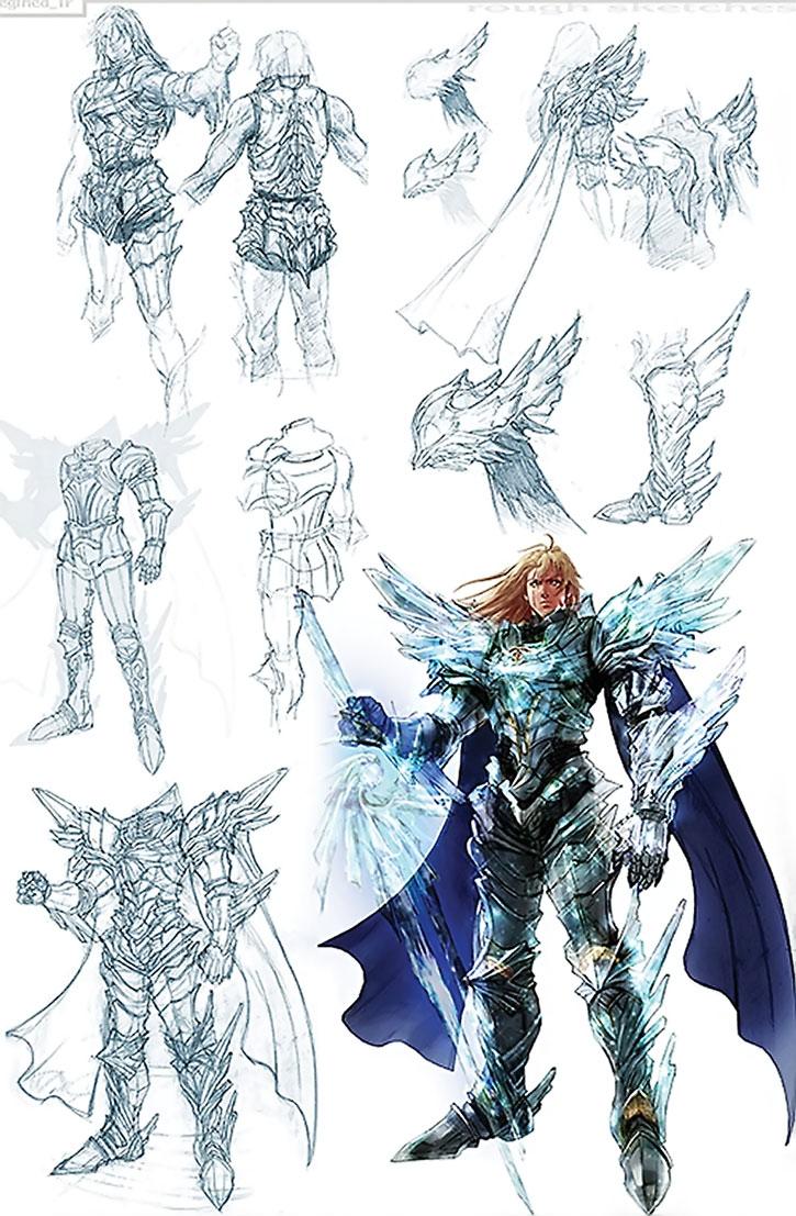 Siegfried character model design sheet