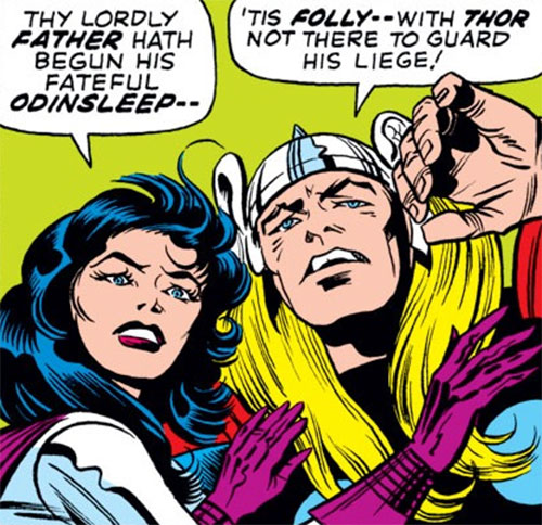 Sif (Thor ally) (Marvel Comics) and Thor angsting