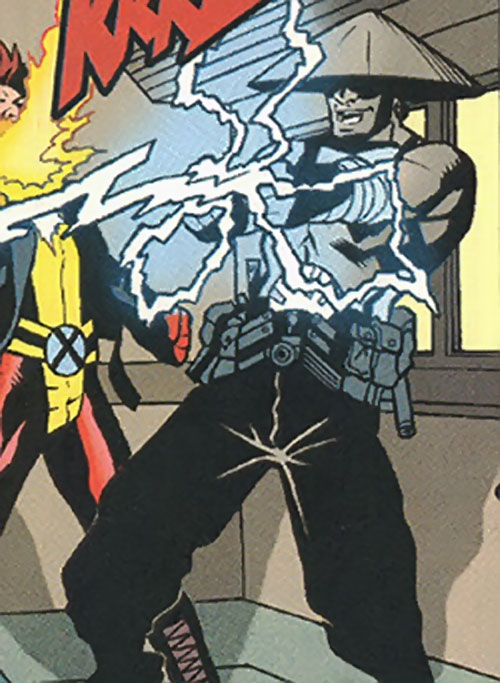 The Sign of the Rising Sons (Marvel Comics) shooting lightning