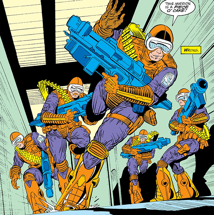 Silver Sable's Wild Pack with the orange and purple uniforms