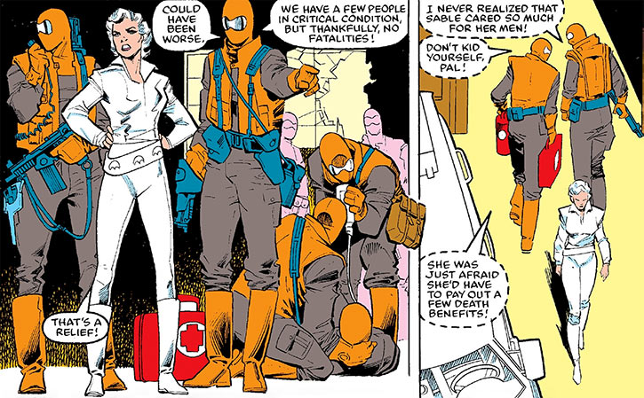 Silver Sable and Wild Pack operatives