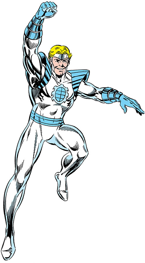 Silver Scarab (DC Comics) (Hector Hall) by Machlan and Ordway in the Who's Who