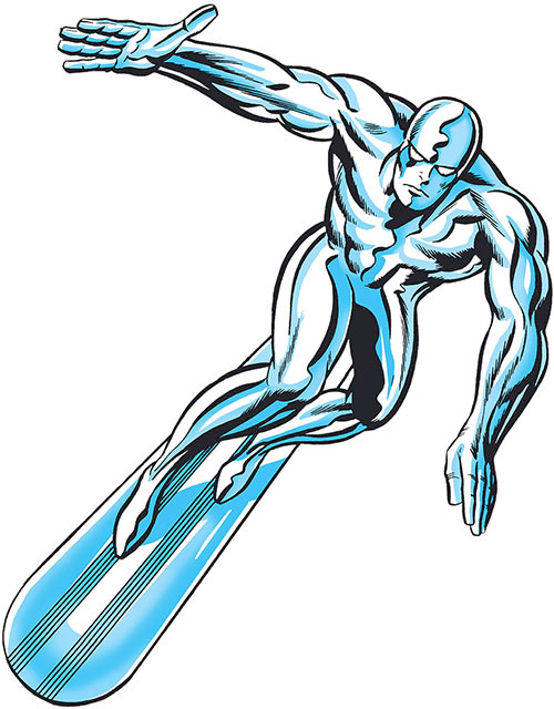 Silver Surfer (Marvel Comics) by Kirby on the cover of Fantastic Four #50
