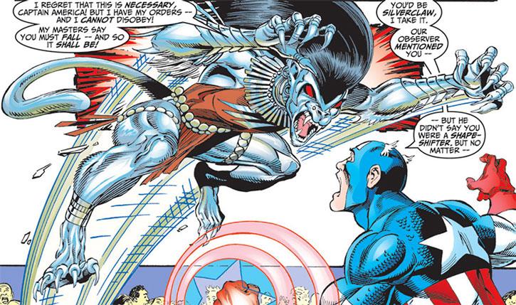 Silverclaw (Maria Santiago) vs. Captain America