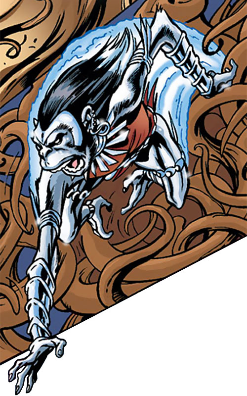 Silverclaw of the Avengers (Marvel Comics) in monkey form