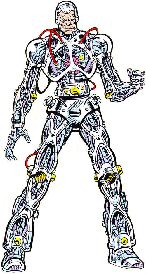 Silvermane (Spider-Man enemy) as a cyborg