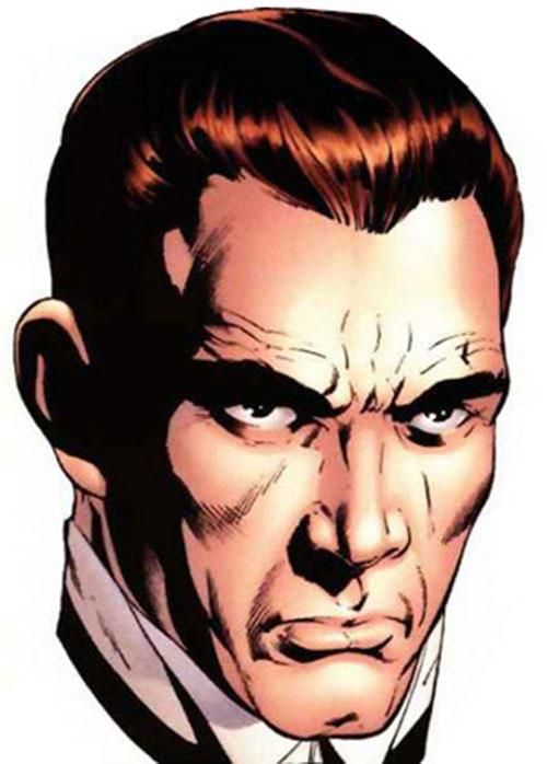 Simon Archard (Ruse comics) face closeup