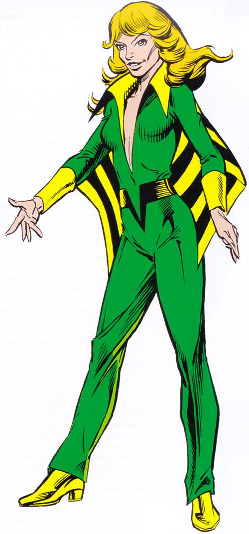 Siryn (Theresa Cassidy) in the 1983 Marvel Comics handbook