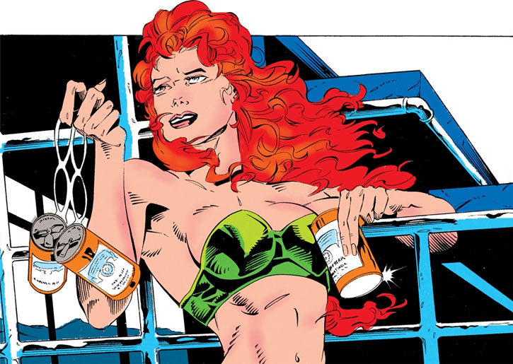 Siryn of X-Force (Marvel Comics) (Cassidy) drinking beers