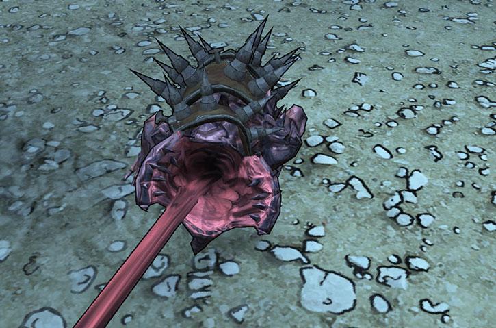 A skag shoots out its tongue