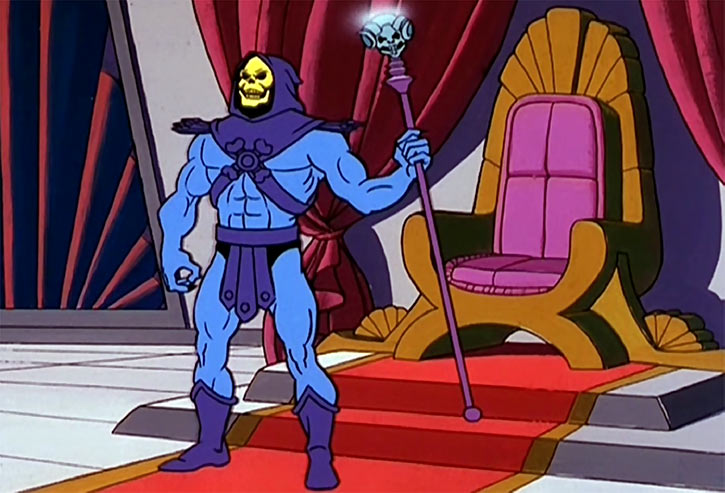 Skeletor (Masters of the Universe 1980s cartoon) in a game of thrones