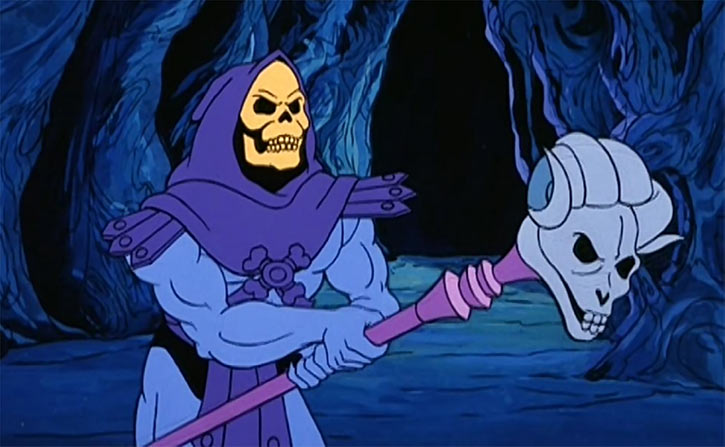 Skeletor (Masters of the Universe 1980s cartoon) havok staff cave