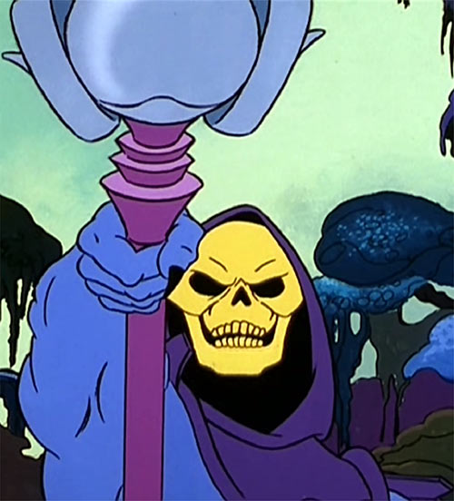 Skeletor (Masters of the Universe 1980s cartoon) pointing staff