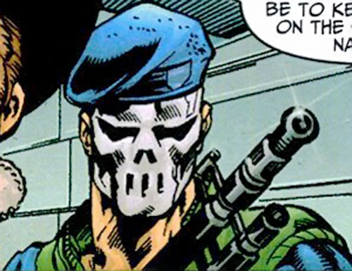 Skul agent of SHIELD (Marvel Comics) face mask closeup