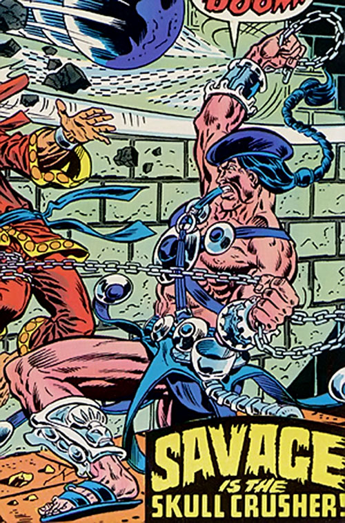 Skullcrusher vs. Shang Chi the Master of Kung Fu (Marvel Comics)
