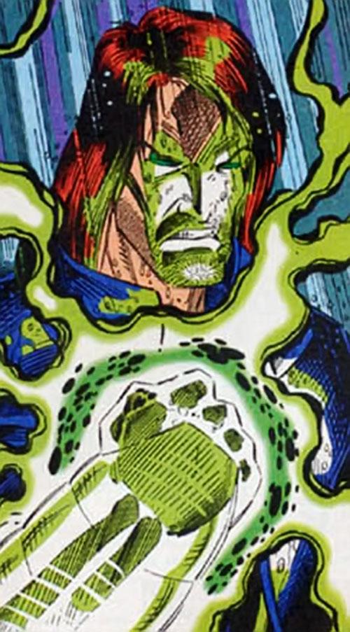 Skullfire of the X-Men 2099 (Marvel Comics) with glowing skeletal fist