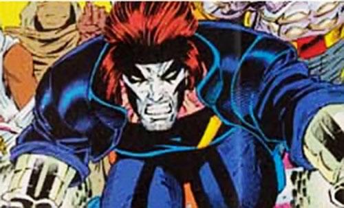 Skullfire of the X-Men 2099 (Marvel Comics) rushing in