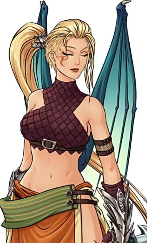 Skyborn video game - Alda Kims - Eyes closed