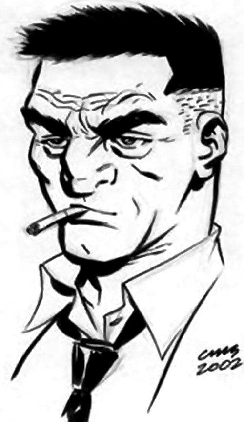 Slam Bradley (DC Comics) (Catwoman ally) B&W portrait
