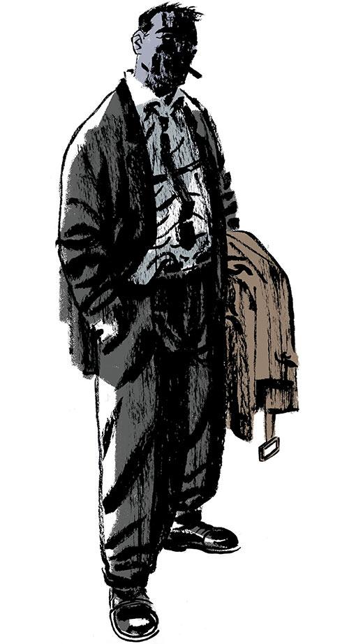 Slam Bradley (DC Comics) noir atmosphere art by Darwyn Cooke in Solo