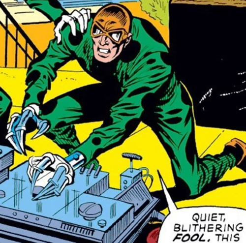 Slasher (Iron Man enemy) (Marvel Comics) operating a machine