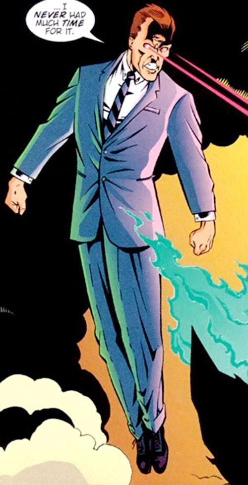 Slaughterhouse Smith (Wildstorm Comics) (Team 1 enemy) flying and firing eye beams
