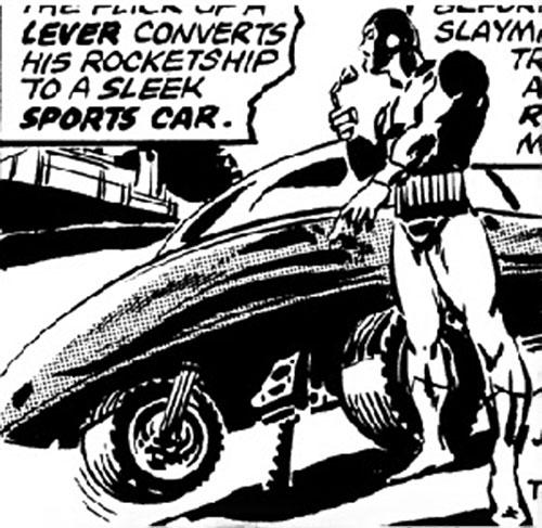 Slaymaster (Captain Britain enemy) and his rocketship