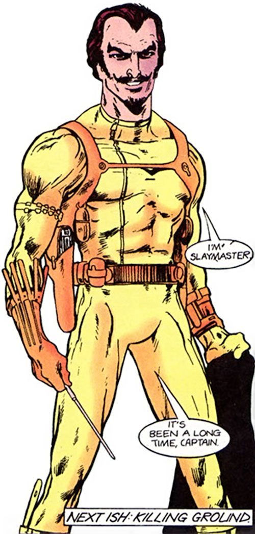 Slaymaster (Captain Britain enemy) (1980s Marvel Comics)