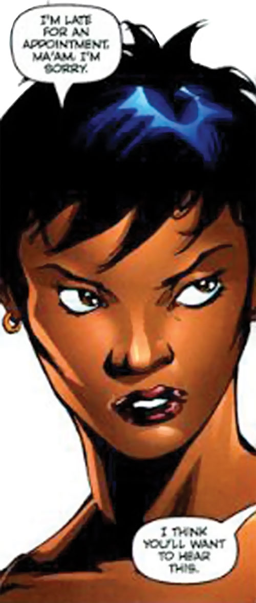 Slingshot aka Menagerie of Dynamo 5 (Image Comics) face closeup