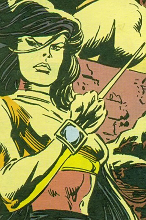 Sliver of the Gatherers (Avengers enemies) (Marvel Comics) in yellow lighting