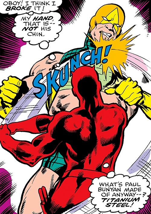 Smasher (Death's Head agent) (Marvel Comics) vs. Daredevil