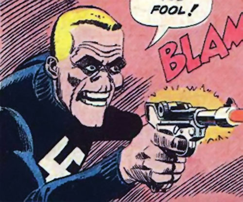 Smiling Skull (Charlton Comics) firing his pistol