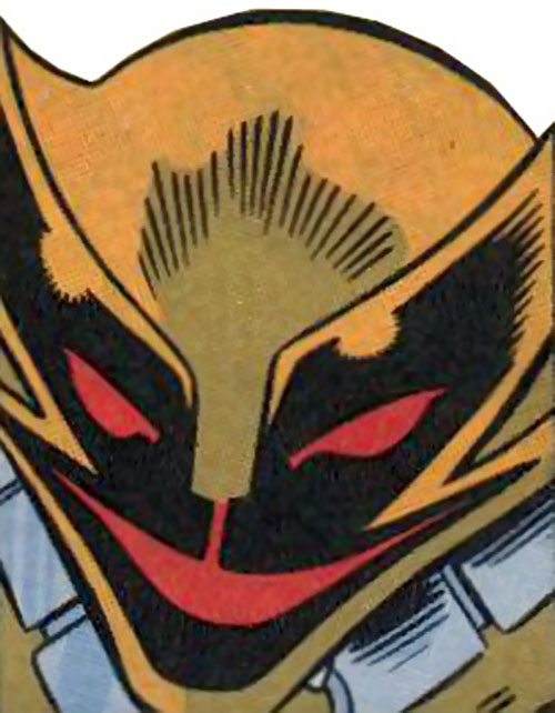 Smiling Tiger of the Folding Circle (New Warriors enemy) (Marvel Comics) face closeup
