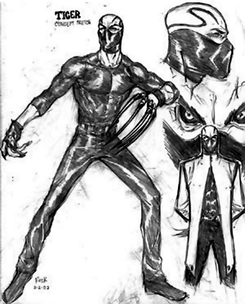 Smiling Tiger of the Folding Circle (New Warriors enemy) (Marvel Comics) non-continuity sketch