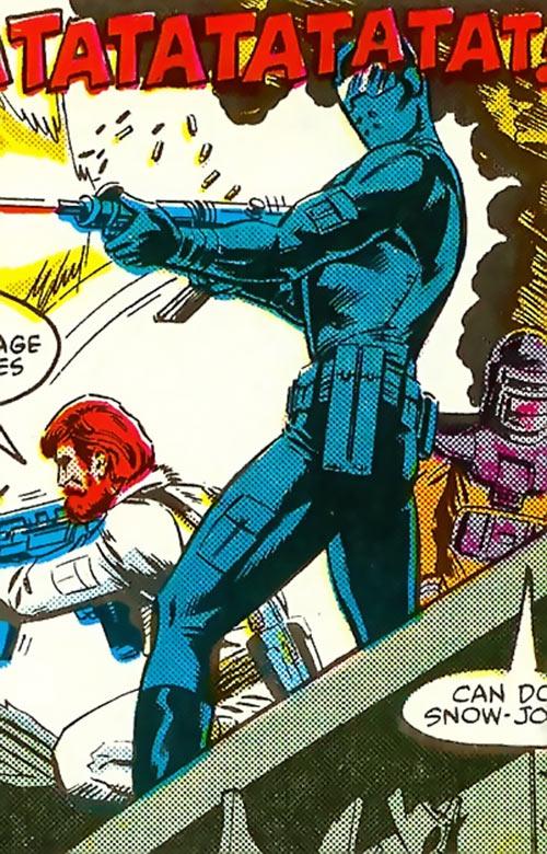 Snake Eyes (GI Joe Marvel Comics) machine gunning