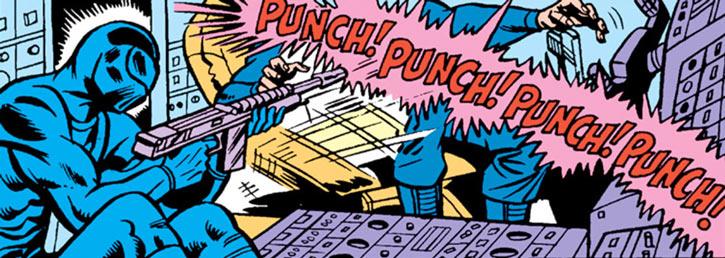 Snake Eyes (GI Joe Marvel Comics) punching bullets
