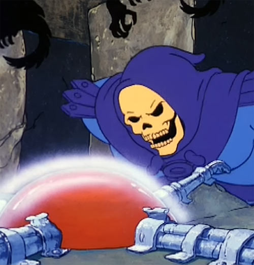Snake Mountain - Skeletor - Masters of the Universe - Crystal ball table