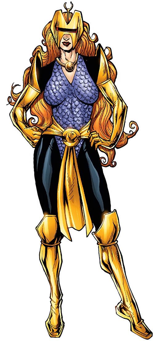 Snapdragon (Marvel Comics) with her purple armor