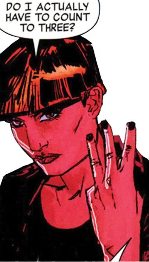 Snapdragon (Marvel Comics) in Moon Knight, threatening