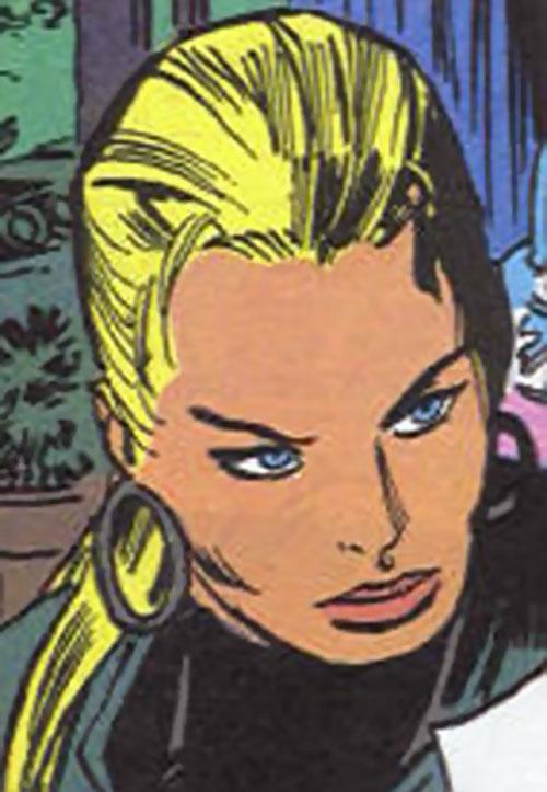Snow Queen (Marvel Comics) (Wolverine Comics) face closeup