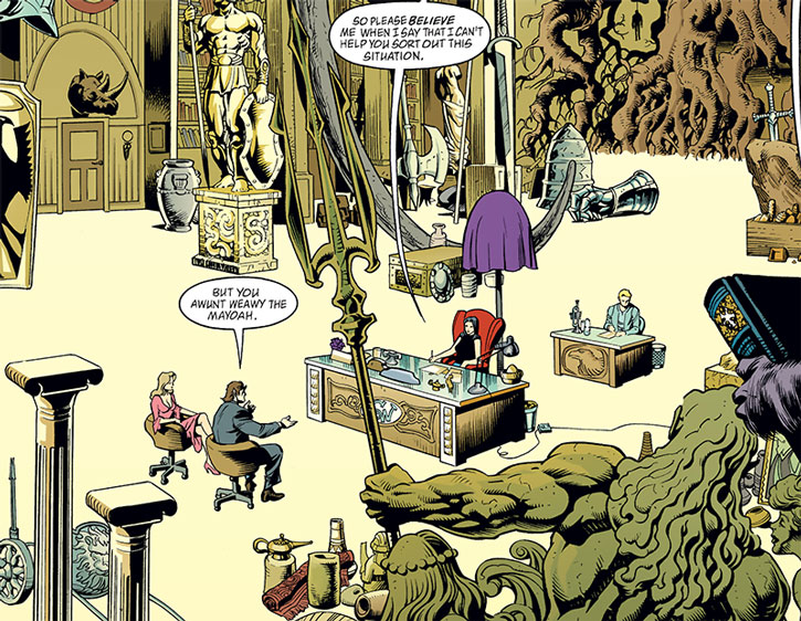 Snow White (Fables) in her gigantic Mayoral office