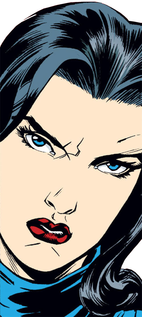 Snow White of the Fables (DC Comics) staring angrily