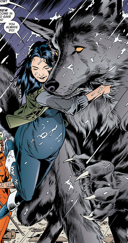 Snow White of the Fables (DC Comics) pregnant and with Bigby