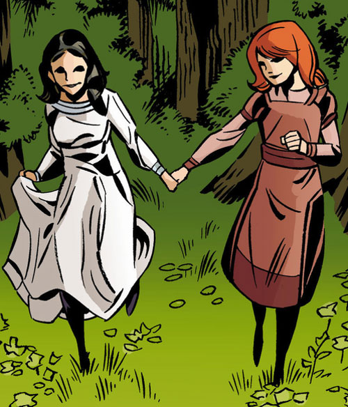 Snow White of the Fables (DC Comics) and Rose Red as children