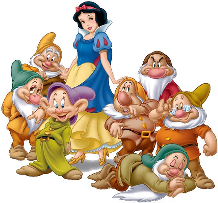 Snow White and the 7 Dwarves (Disney) group shot