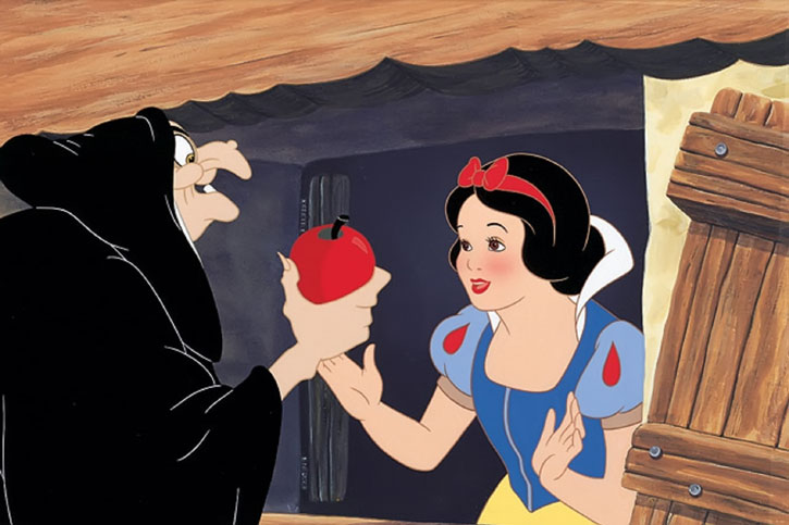 Snow White (Disney cartoon) - the witch with her magic apple
