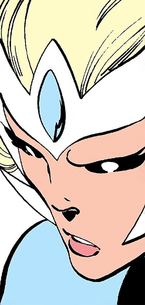 Snowbird (Alpha Flight) (Marvel Comics) face closeup