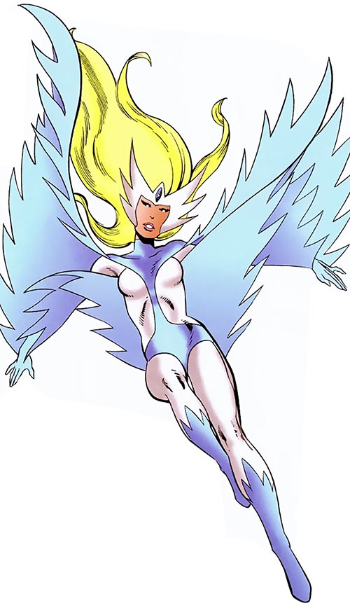 Snowbird (Alpha Flight) (Marvel Comics) landing