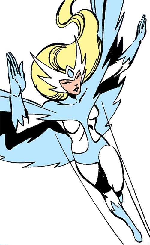 Snowbird (Alpha Flight) (Marvel Comics) waving
